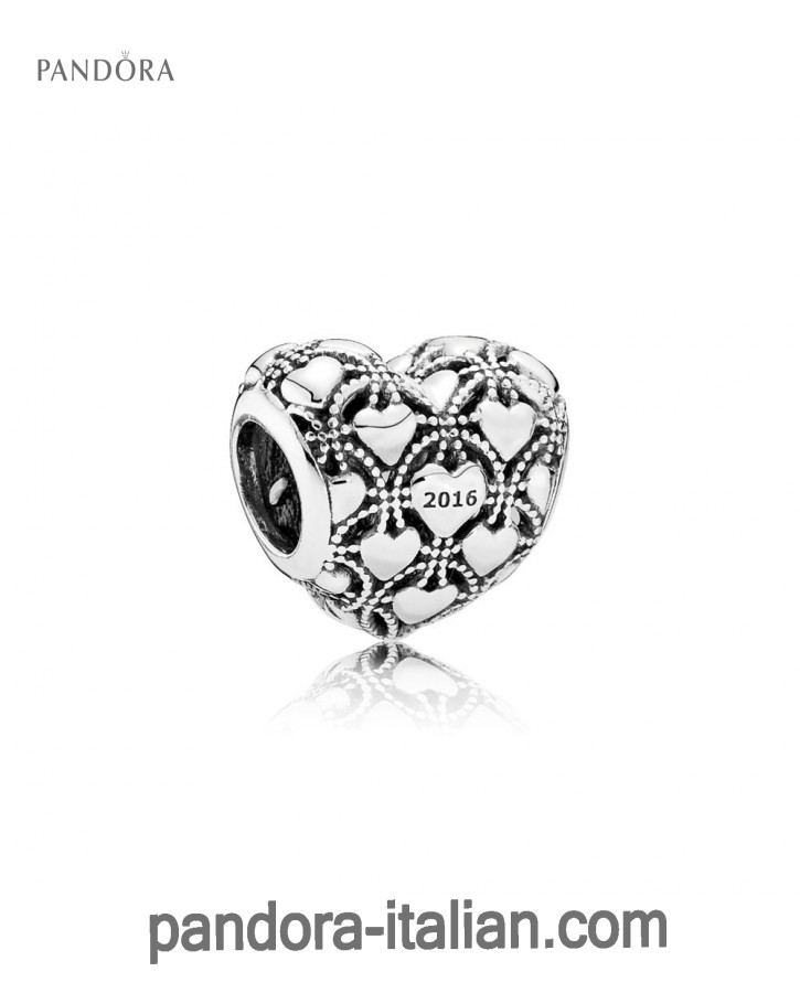 Pandora Club Charm 2016 in argento, diamante ,1 ct TW h/vs-01